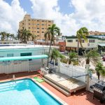 Blue Wave outdoor pool and view of Hollywood at Hollywood Beach Hotels