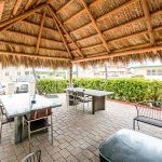 outdoor patio under pavilion at Hollywood Beach Hotels