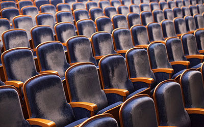 seats in an empty theater