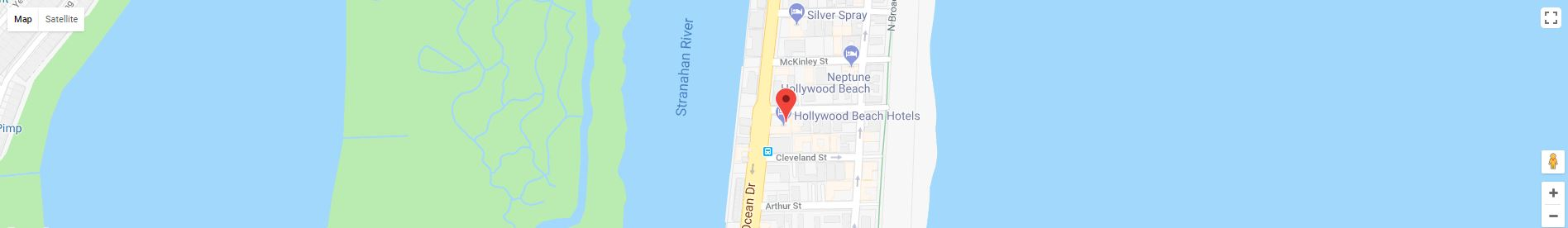 Hollywood Beach Hotels Map