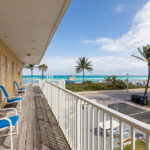second floor balcony with ocean view at Hollywood Beach Hotels