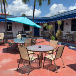 outdoor patio seating at Ocean villa at Hollywood Beach Hotels