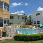 exterior and pool area of the Seaside villa at Hollywood Beach Hotels